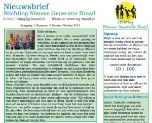 nieuwsbrief oktober stichting nieuwe generatie brasil